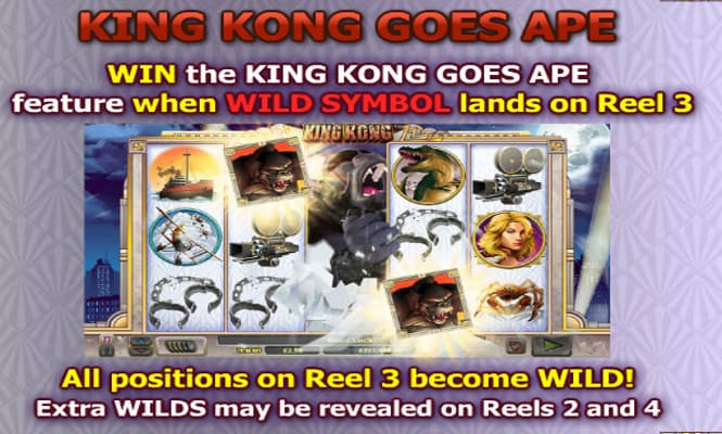 Игра King Kong - бонус King Kong Goes Ape