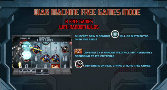 игра Iron Man 3 - бонус War Machine Free Games Mode