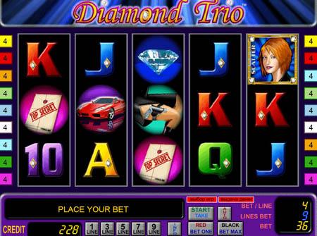 Diamond Trio (Алмазное Трио) - видео обзор игрового