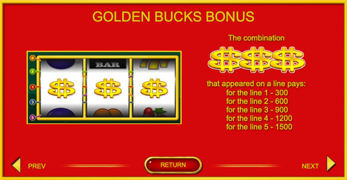 Онлайн слот Golden Bucks
