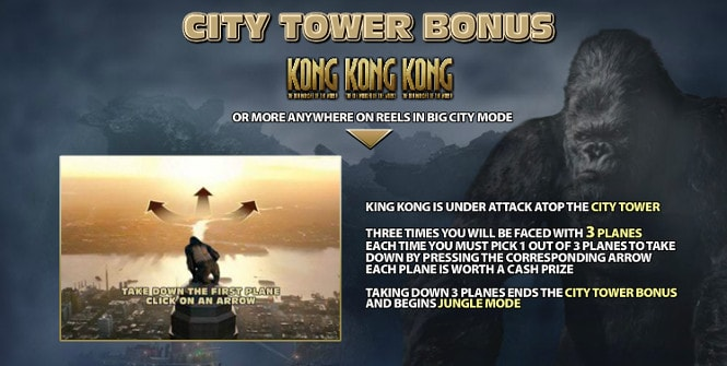 King Kong - City Tower Bonus