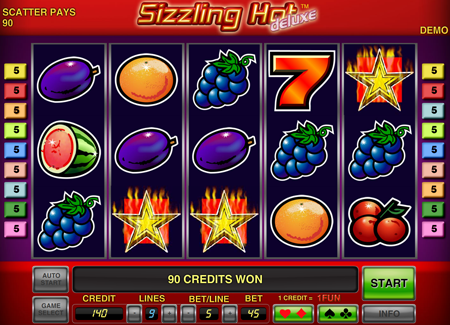 Sizzling Hot Deluxe Online Hra